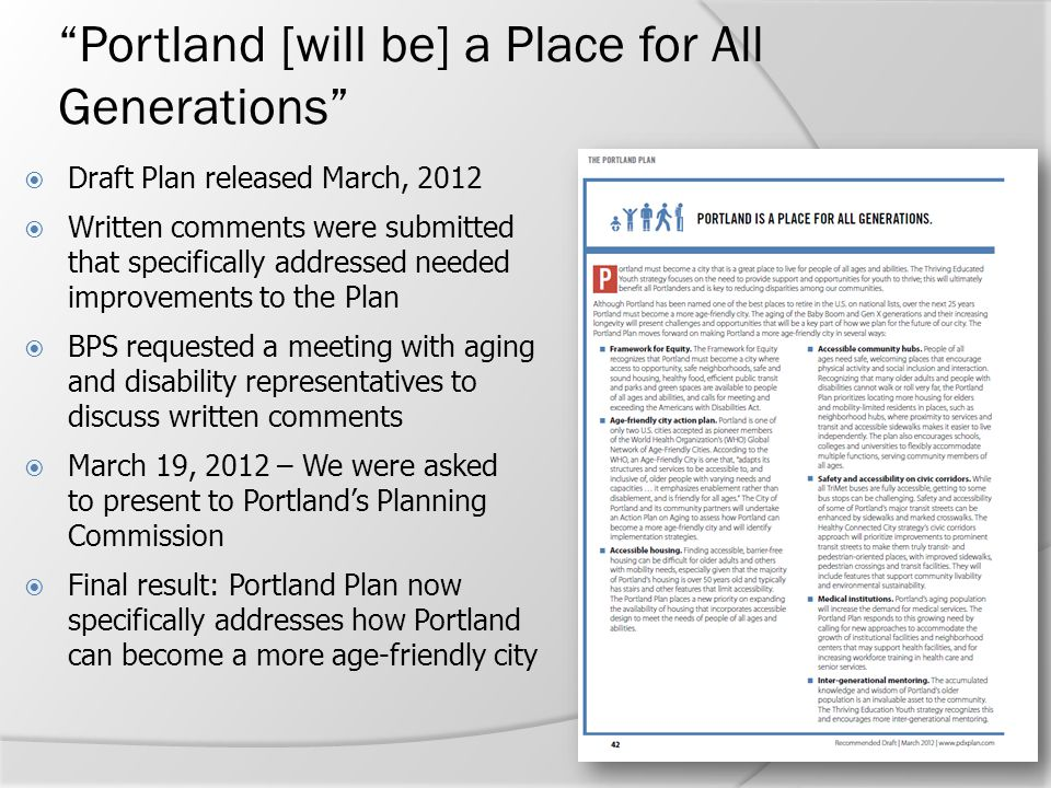 Portland [will be] a Place for All Generations